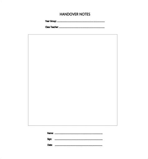 Handing Notes Template by Handing Notes Template Image Collections Template