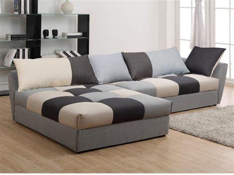 canapé d angle en tissus canapé angle convertible en tissu gris ou chocolat romane