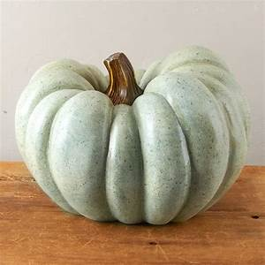 Large Faux Jarrahdale Heirloom Pumpkin - Table Decor