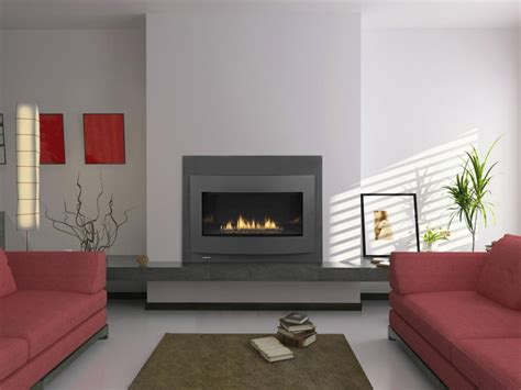 gorgeous see trough contemporary fireplace design with soapstone splash back and large glass