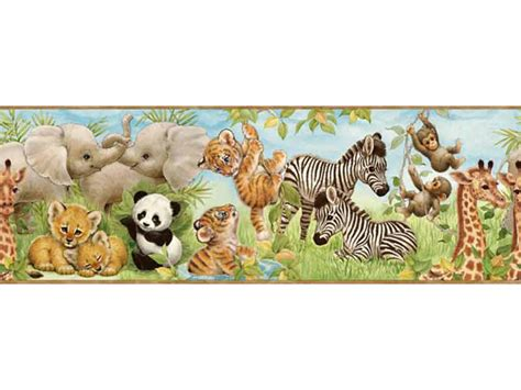 Animal Wallpaper Border - animal wallpaper for nursery wallpapersafari