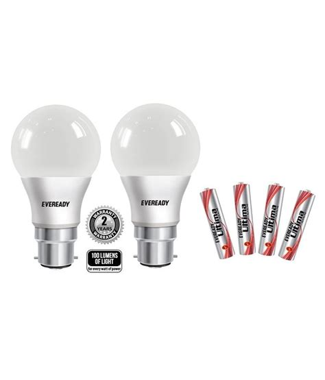 eveready 9w pack of 2 6500k 100lumens w cool day light