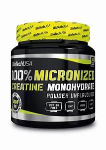 100  Creatine Monohydrate 500g Powder Biotech Usa