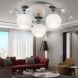 Wohnzimmer Lampe Dimmbar : deckenleuchte glas deckenlampe beleuchtung wohnzimmer ~ Watch28wear.com Haus und Dekorationen