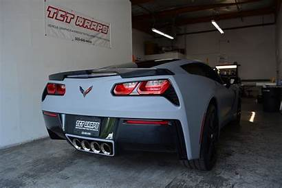 Matte Wrapped Gray Z51 C7 Corvette Loaded