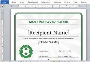 printable sports certificate template for word With sport certificate templates for word