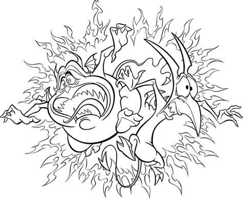Imagen Para Colorear Hercules Personajes Inframundo