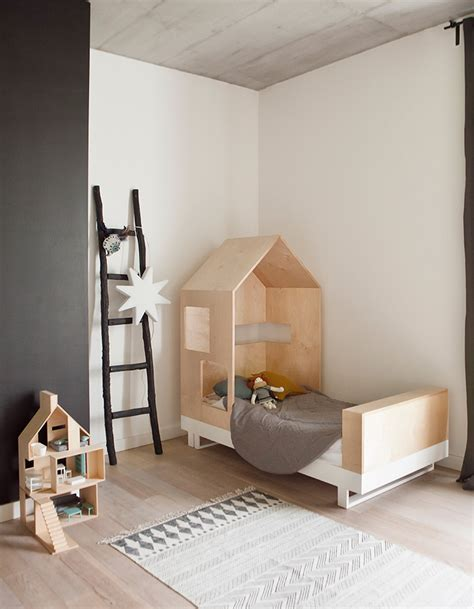 chambre deco bois deco lit cabane