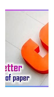 3d letters from paper, letter S s - YouTube