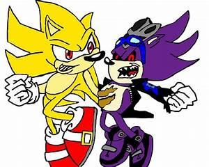 Super Sonic vs Super Scourge by tanlisette on DeviantArt
