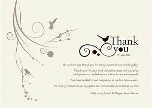 thank you wedding wording did not attend wedding With thanks for wedding invitation quotes
