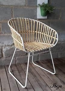 Fauteuil Exterieur Osier : chaise osier best chaise en fitrit noemie grise with ~ Premium-room.com Idées de Décoration