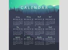Plantilla de calendario 2019 con paisaje Descargar