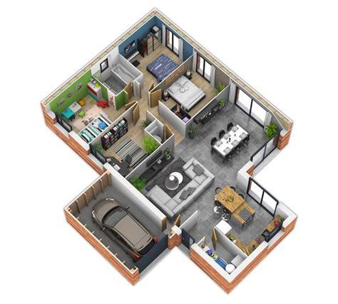 hotel chambre familiale maison minecraft plan 3d