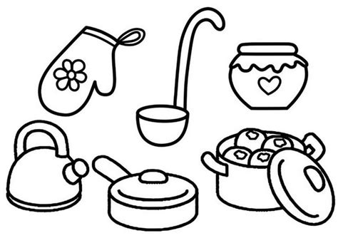 Coloring Utensil by Kitchen Cooking Utensils And Tools Dining Coloring Page