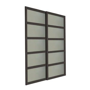panel frosted glass sliding closet door