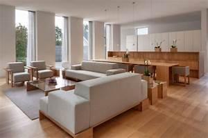 Wohnzimmer Holz Modern : 114 ideen f r parkett und dielenb den in der modernen einrichtung ~ Orissabook.com Haus und Dekorationen