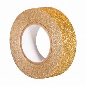 Masking Tape Doré : rouleau de 5m de masking tape glitter dor rayher scrapbooking art du papier loisirs ~ Teatrodelosmanantiales.com Idées de Décoration