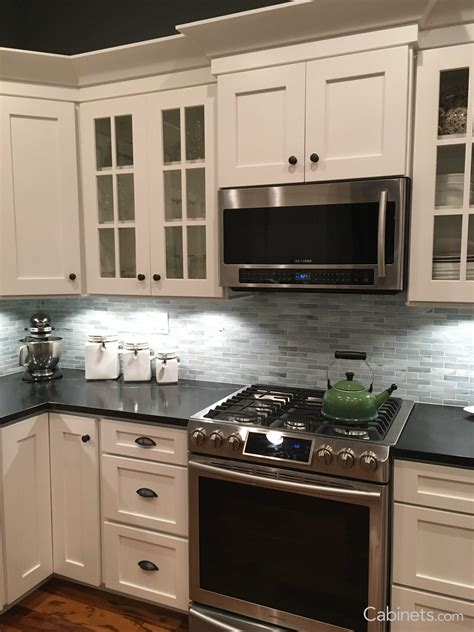 Kitchen Cabinets Styles - the picture features shaker ii maple bright white cabinets