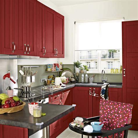 peindre des elements de cuisine meuble de cuisine delinia rubis leroy merlin