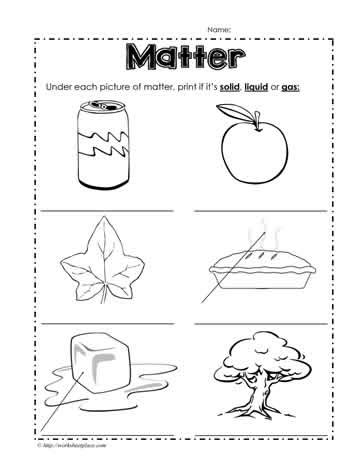 identifying states of gas matter worksheet solid liquid or gas worksheets