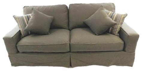 Green Slip Cover by Sunset Trading Americana Sofa Slip Cover Forest Green