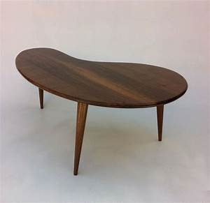 Tischbeine Mid Century : buy custom modern coffee cocktail table eames era amoeba design with tapered walnut legs made ~ Markanthonyermac.com Haus und Dekorationen