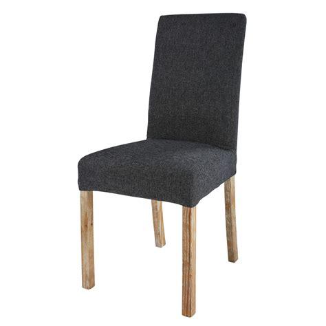 tissu chaise housse de chaise en tissu gris charbon margaux maisons