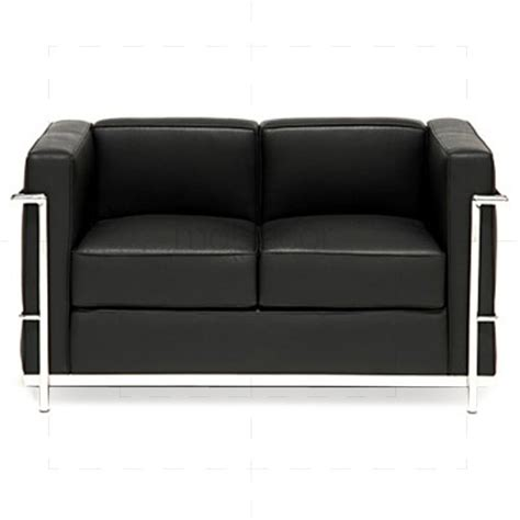 Corbusier Loveseat by Le Corbusier Lc2 Twoseater Sofa Black 163 832 25