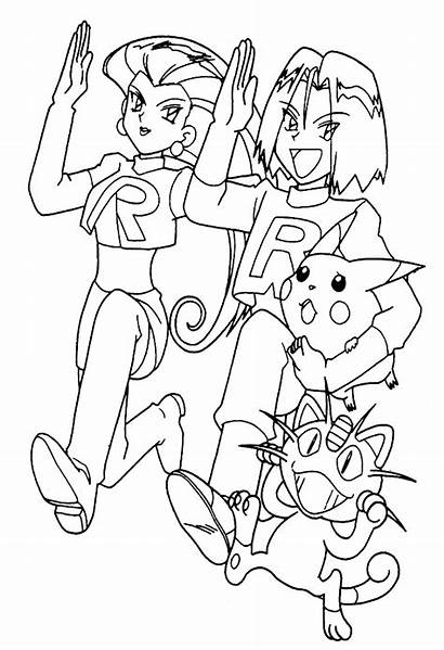 Coloring Pokemon Team Rocket Pages Popular