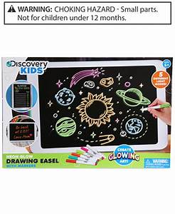 Discovery Kids Neon Glow Drawing Easel Toys & Games