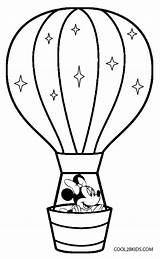 Balloon Coloring Air Pages Template Craft Preschool Crafts Printable Cool2bkids Sheets Adults sketch template