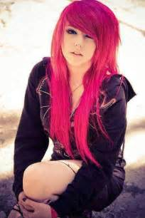 Emo Girl Pink Hair Brown Eyes Emo Hair Dyed Hair Scene