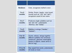 Baby Talk Timeline FirstYear Language Skills