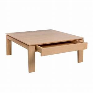 Table Basse Carrée En Bois : table basse contemporaine carr e en bois avec tiroir ~ Teatrodelosmanantiales.com Idées de Décoration