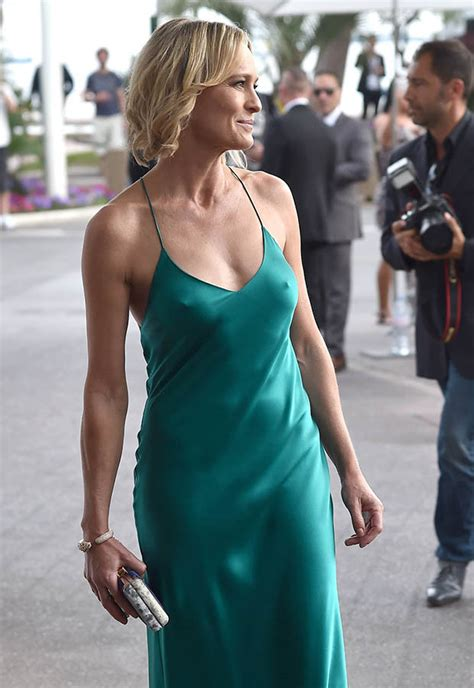 Robin Wright Cannes nipple flash as paper-thin gown ...