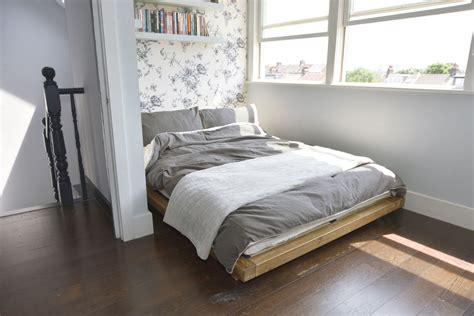 Low Platform Bed Elm Finish