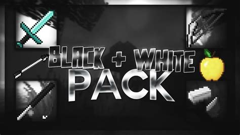 Minecraft Pvp Texture Pack 32x Faithful Black And White