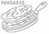Pancake Coloring Pages Print Food sketch template