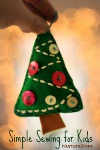 simple sewing for tree decoration nurturestore