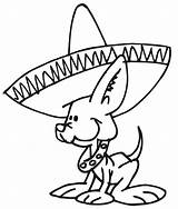 Sombrero Coloring Clipart Library Animals Dog sketch template