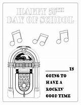Hop Sock 1950s Days Coloring Poodle Scholastic Skirts sketch template