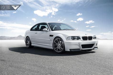 bmw e46 alpine white bmw e46 m3 with vorsteiner wheels