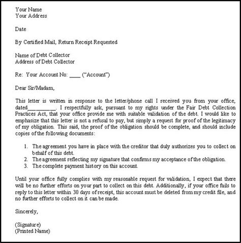 debt validation letter james  paris