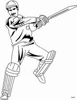 Cricket Coloring Pages Sport Bat Batsman Printable Hitting Player Sketch Print Stroke Template Offside Game Getcoloringpages Templates Sheet Quiet Very sketch template