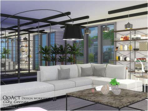 sims resource city corner living room  qoact sims
