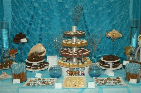 underwater theme dessert table dessert tables pinterest