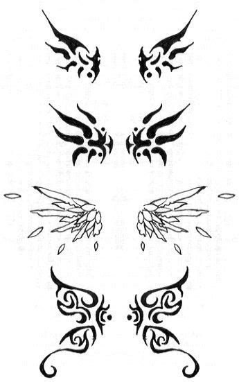 Wing tattoos by bluecatgreenapl on deviantART...bottom wings are mimic the butterfly i currently