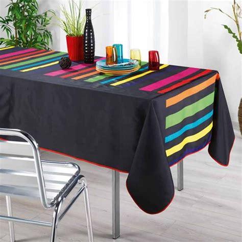 nappe de cuisine rectangulaire nappe rectangulaire quot colors quot noir 150x240cm