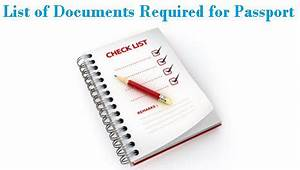 List of documents required for your passport in india for Documents needed for new passport